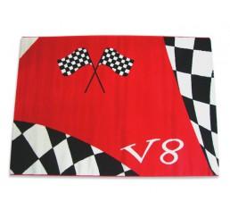 V8 tapijt vloerkleed autokamer | rood