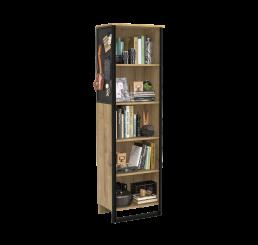 Timber industriële boekenkast tienerkamer