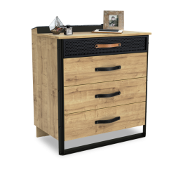 Timber industriële ladekast commode tienerkamer