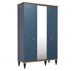 Toronto 3 deurs kledingkast donkerblauw tienerkamer