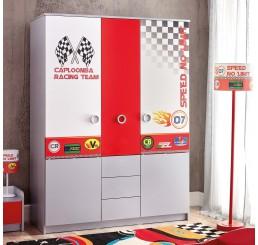 Turbo 3-deurs kledingkast autokamer