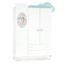 Unicorn 3 deurs kledingkast meisjes kinderkamer
