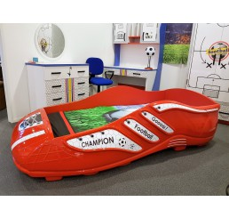Champion Voetbal bed kinderbed jongensbed rood