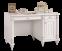 Romantic bureau meisjesbureau wit, groot bureau meisjeskamer, kinderbureau, brocante bureau wit