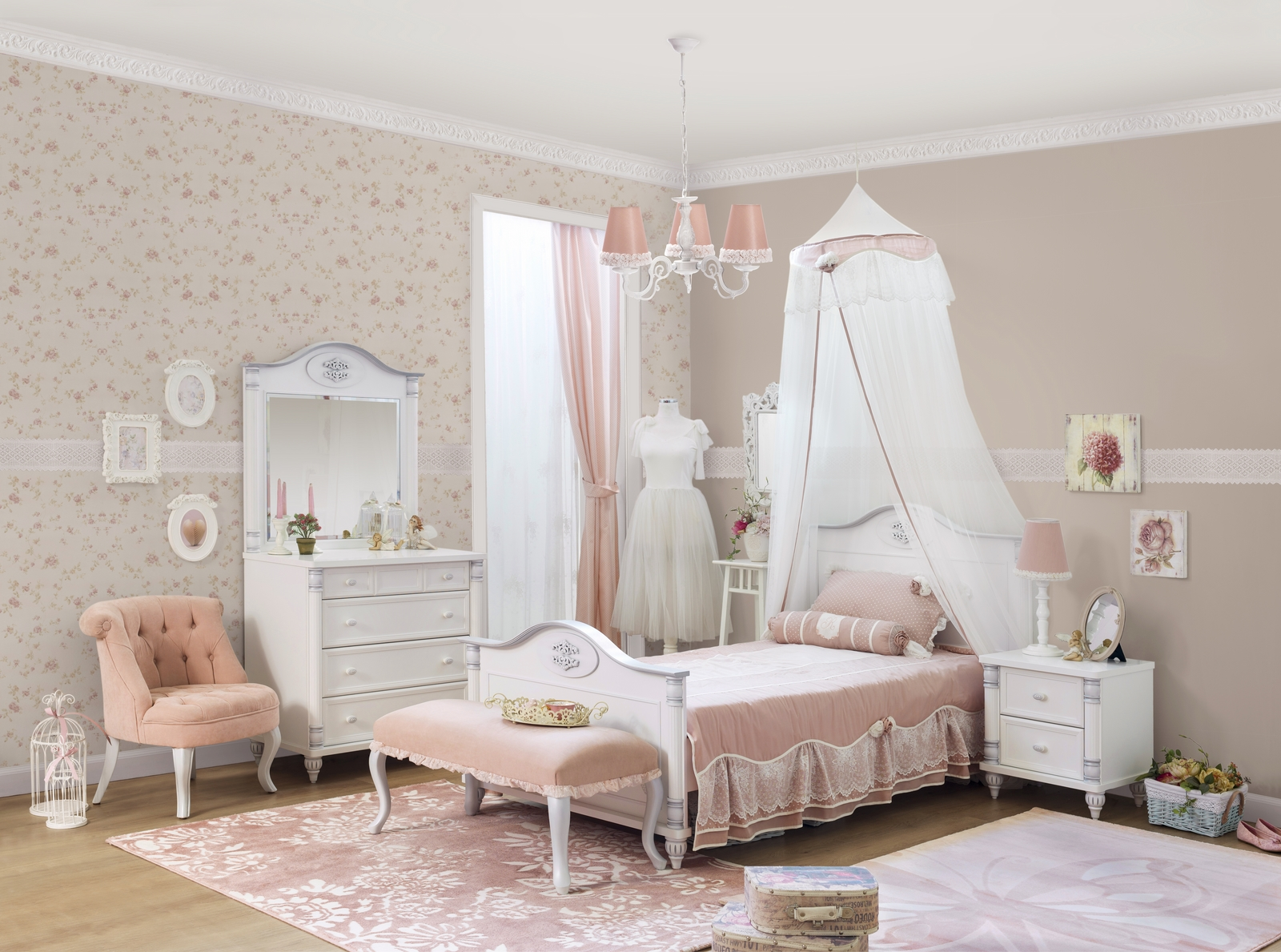 Romantic meisjes bed kinderkamer Specialist in kinderkamers en ...