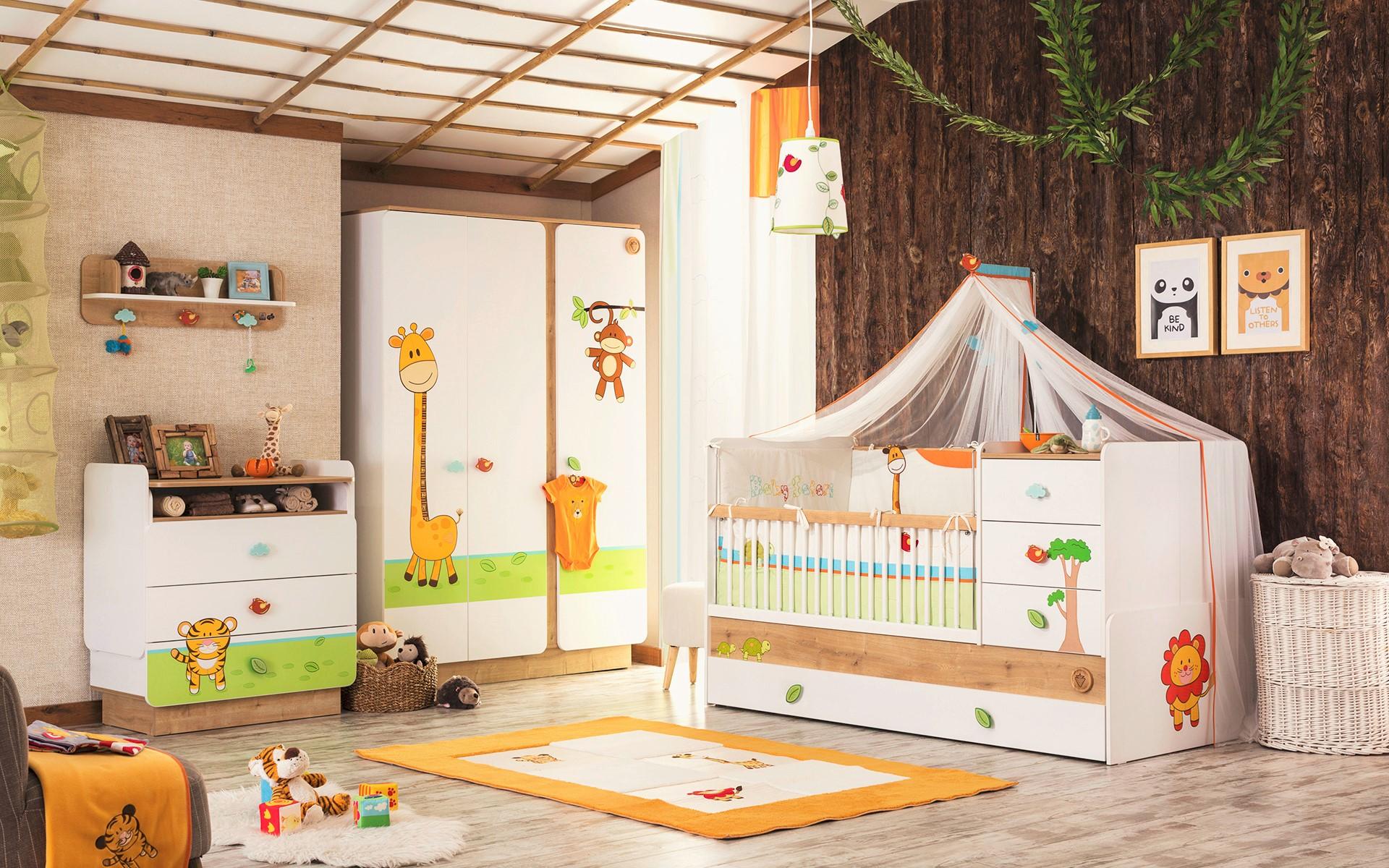 safari dieren babykamer peuterkamer specialist in kinderkamers en, Deco ideeën
